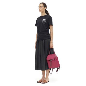 LOEWE Goya Small Backpack Raspberry/Wine front