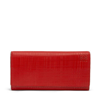 LOEWE Continental Wallet Scarlet Red front