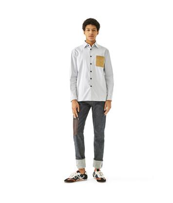 LOEWE Stripe Shirt white/blue front