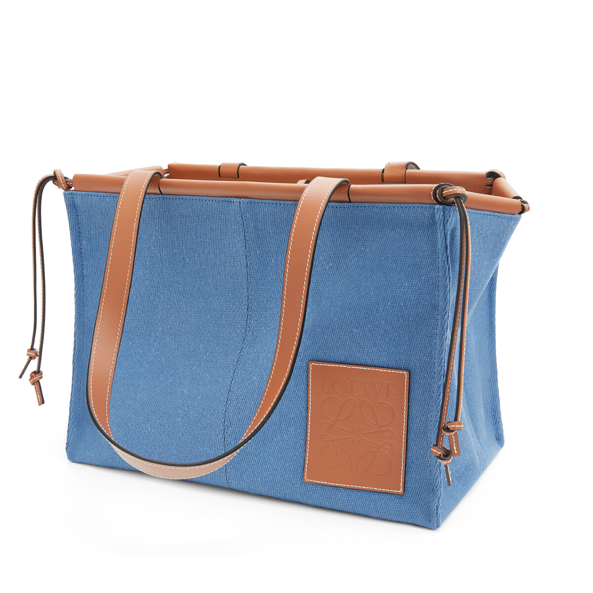 LOEWE Cushion Tote Steel Blue front