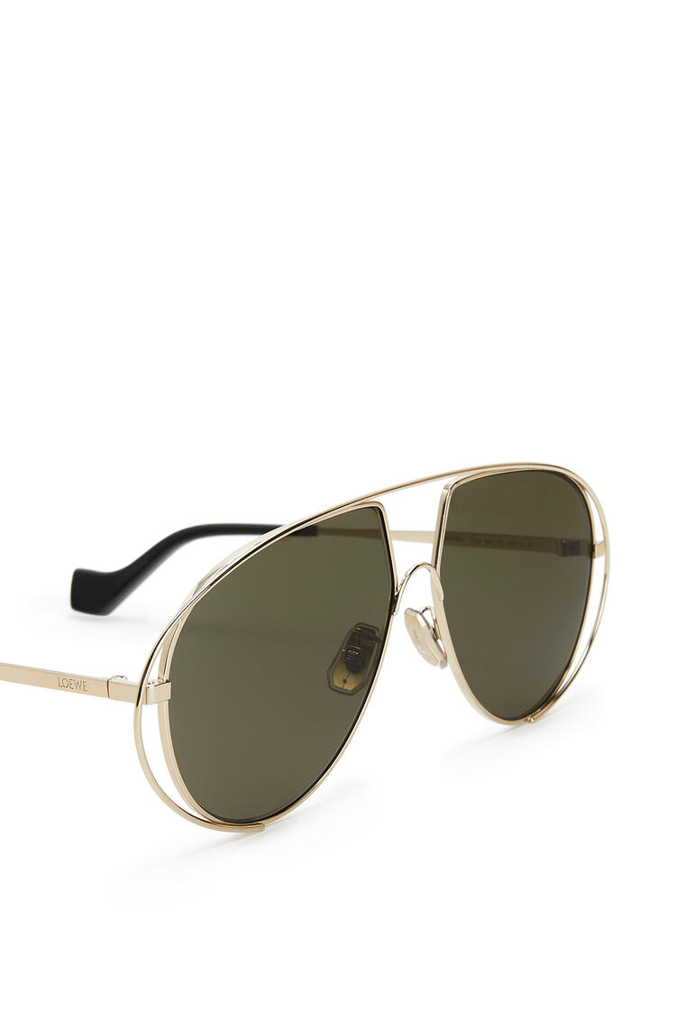 LOEWE METAL PILOT SUNGLASSES Bottle Green pdp_rd