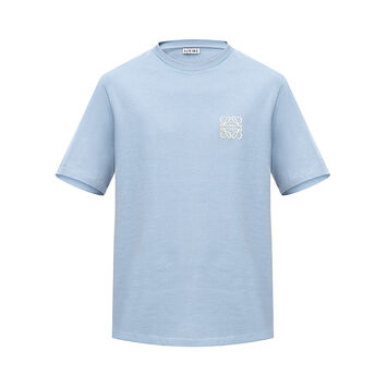 LOEWE Camiseta Anagram Azul Celeste front