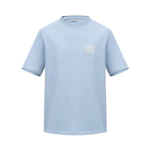 LOEWE Camiseta Anagram Azul Celeste all