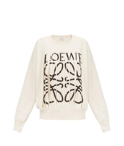 LOEWE Loewe Cut Sweater Off-White front