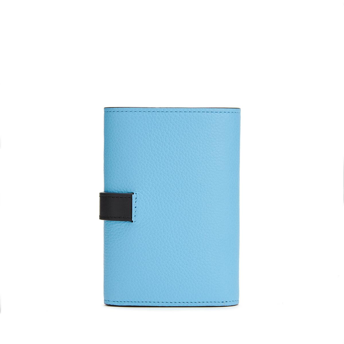 LOEWE Small Vertical Wallet Sky-Blue/Black front