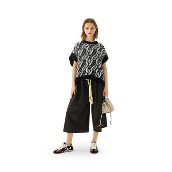 LOEWE Graphic Sleeveless Sweater Black/White front
