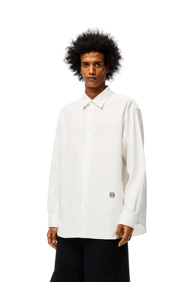 LOEWE Anagram embroidered oversize shirt in cotton White pdp_rd