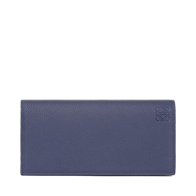 LOEWE Long Horizontal Wallet Marine/Brick Red front