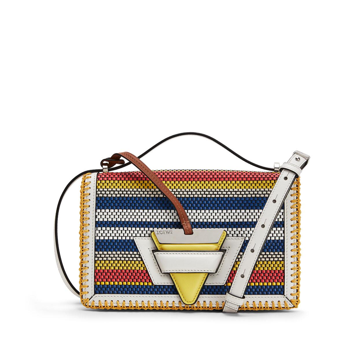 LOEWE Barcelona Woven Stripes Bag Soft White/Multicolour front
