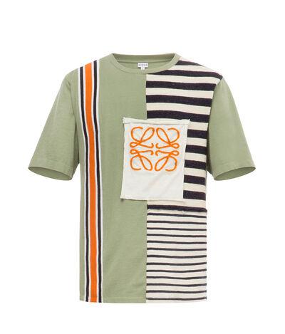 LOEWE Rib & Stripe Tshirt Khaki Green front