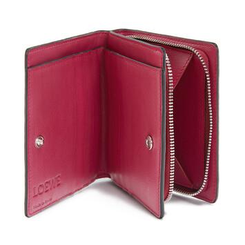 LOEWE Compact Zip Wallet Raspberry front