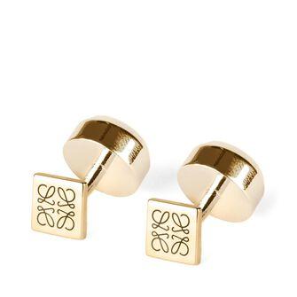 LOEWE Round Cufflink Gold front