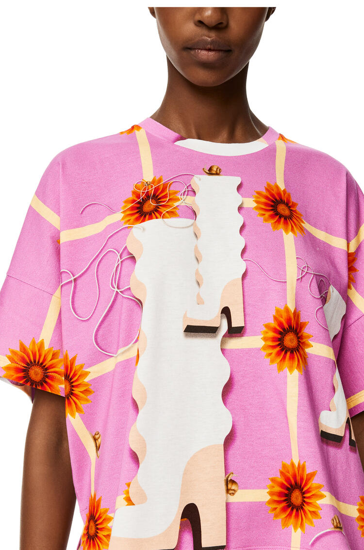 LOEWE Camiseta kimono en algodón con estampado Multicolor pdp_rd