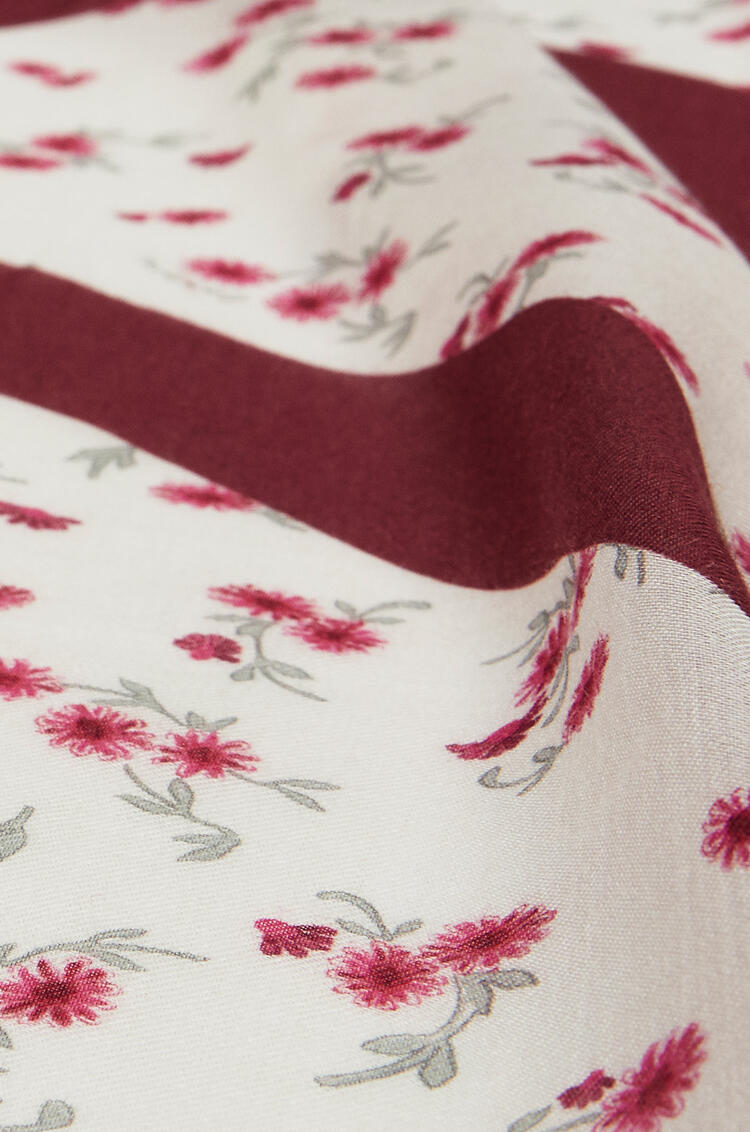 LOEWE 140 X 140 Cm Scarf In Modal And Cashmere Red pdp_rd