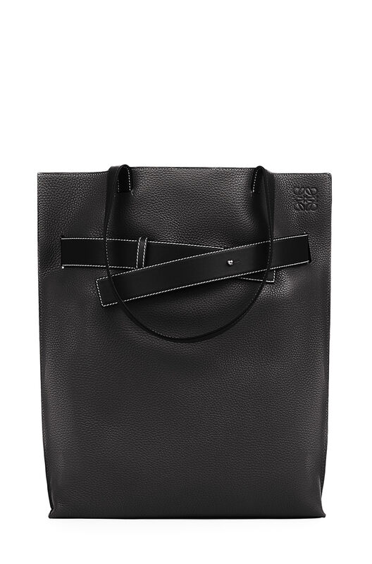LOEWE Bolso Strap Tote Vertical Negro front