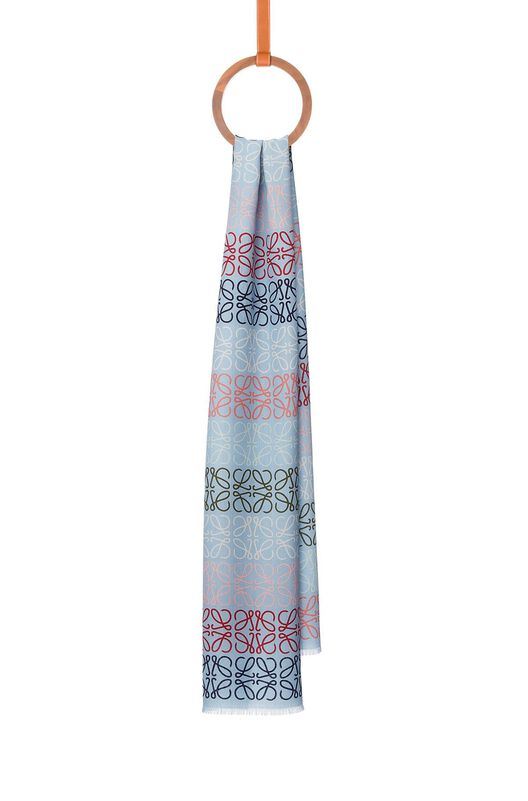 LOEWE 45X200 Scarf Anagram In Lines Azul/Multicolor all