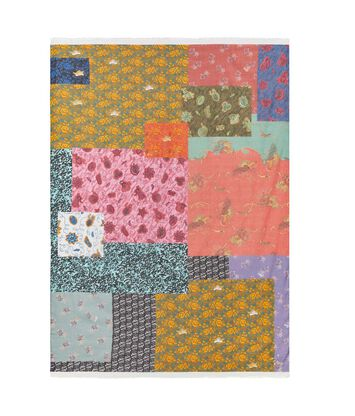 LOEWE 140X200 Paula Patchwork Scarf Multicolor front
