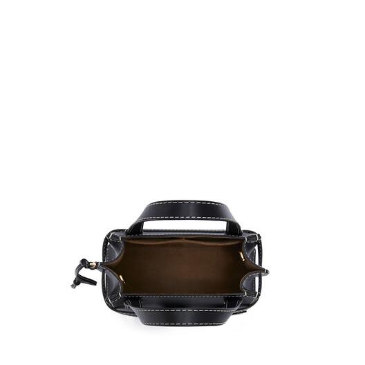 LOEWE Gate Top Handle Mini Bag Black front