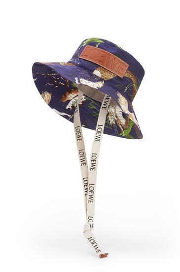 LOEWE Fisherman hat in printed canvas Marine pdp_rd