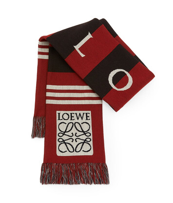 LOEWE 17X120 Scarf Loewe Jacquard Rojo front