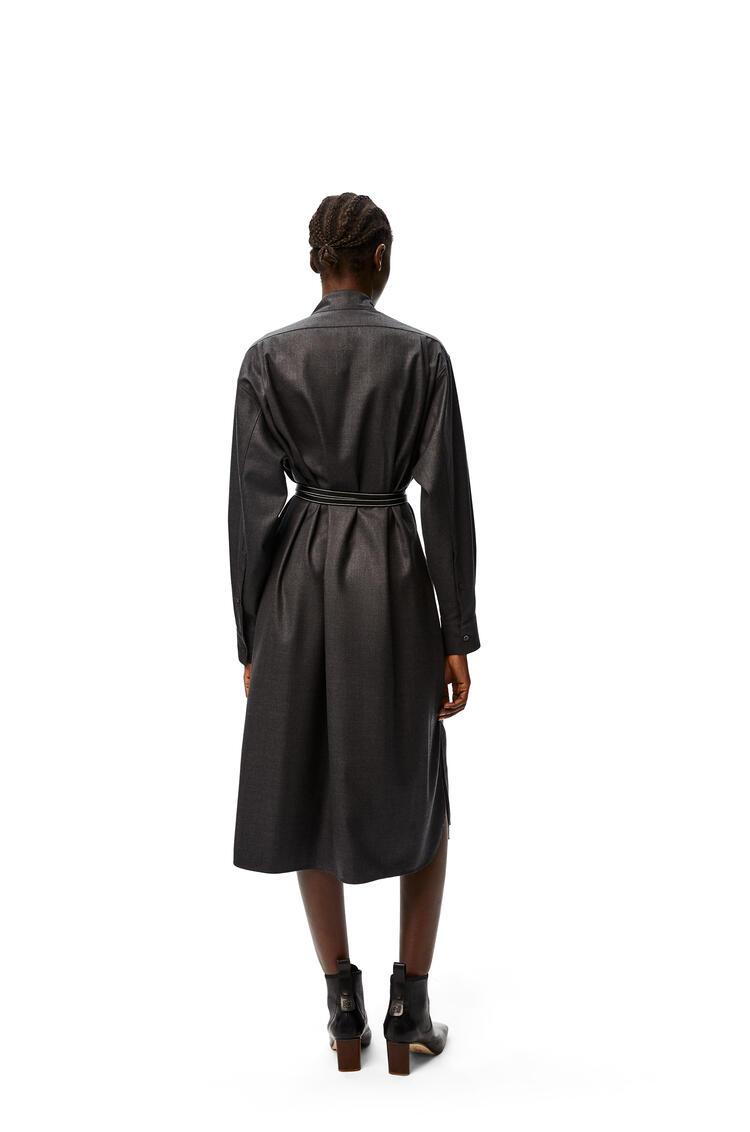 LOEWE Asymmetric shirtdress in wool Dark Grey pdp_rd