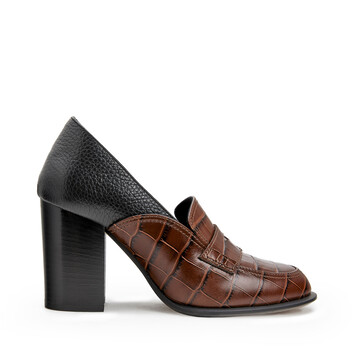 LOEWE Loafer Heel 85 Brown/Black front