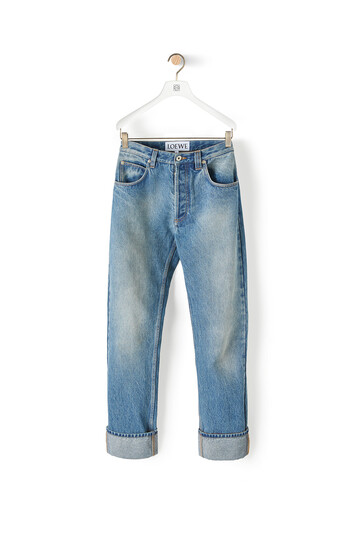 LOEWE 5 Pockets Jeans washed denim front