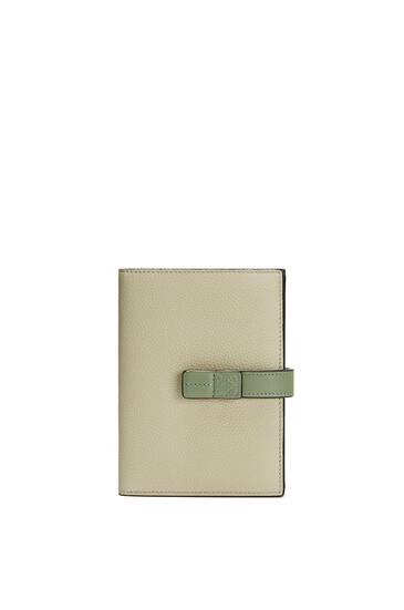 LOEWE Medium Vertical Wallet in soft grained calfskin Sage/Pale Green pdp_rd