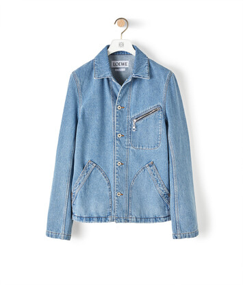 LOEWE Denim Jacket Blue Denim front