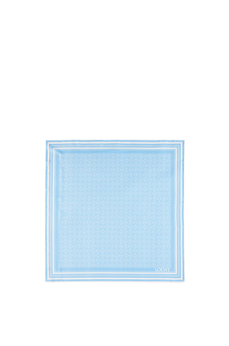 LOEWE Anagram scarf in silk White/Blue pdp_rd