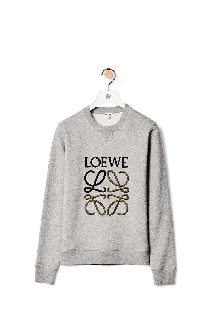 LOEWE LOEWE anagram embroidered sweatshirt in cotton Grey Melange pdp_rd