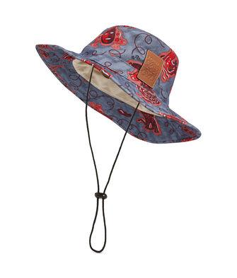LOEWE Paula Bucket Hat 蓝色/红色 front
