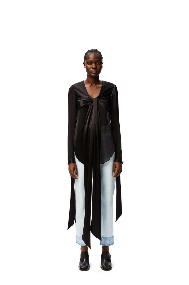 LOEWE Lavalliere blouse in polyester Black pdp_rd