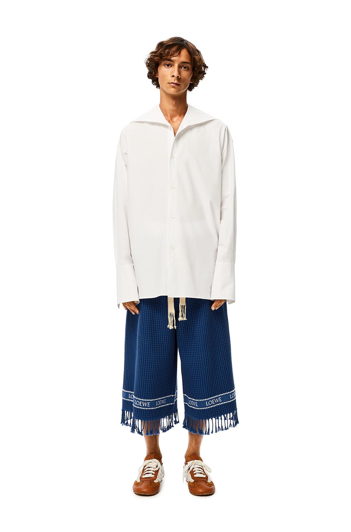 LOEWE Loewe Trim Shorts Navy Blue front
