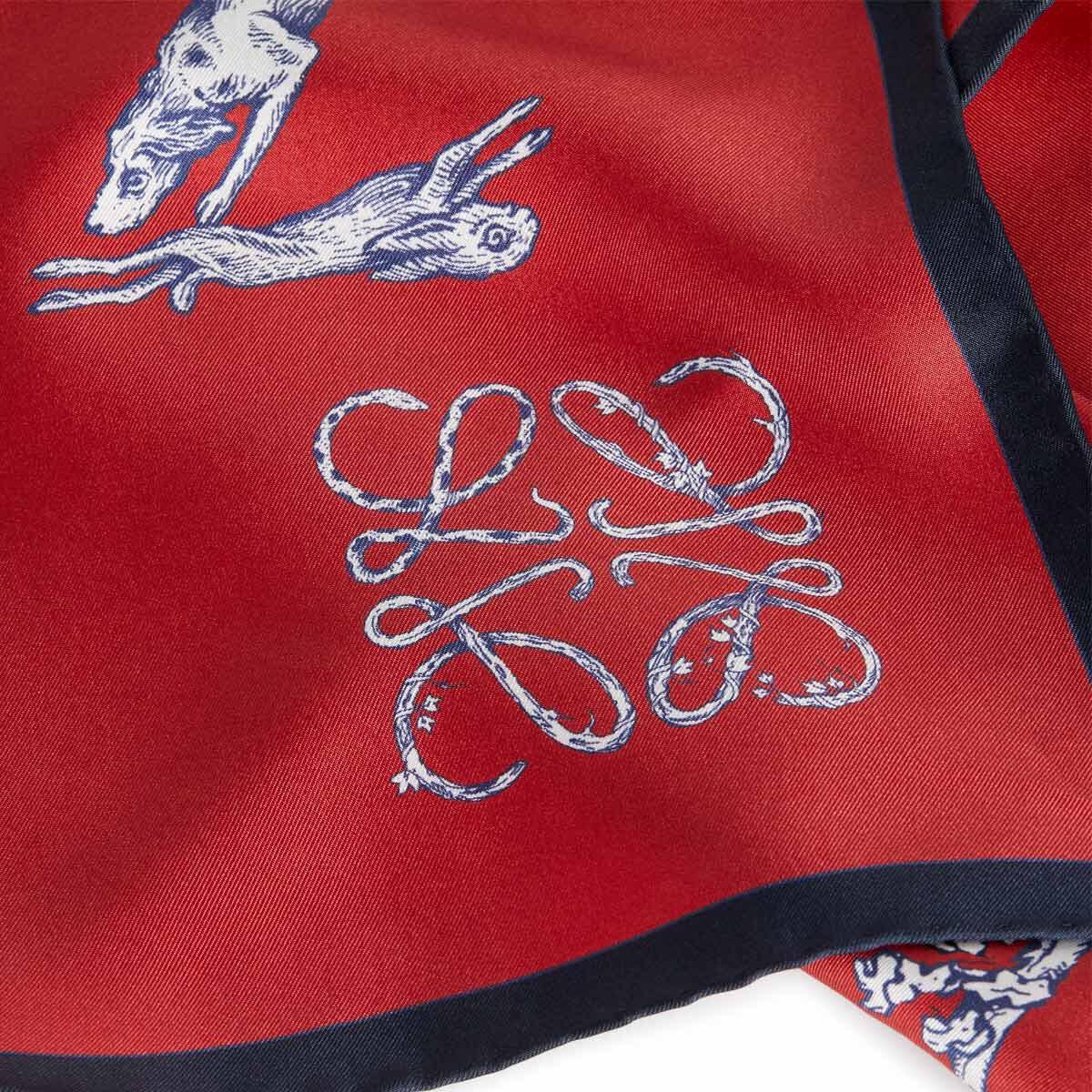 LOEWE 90X90 Scarf Alphabet Rojo front