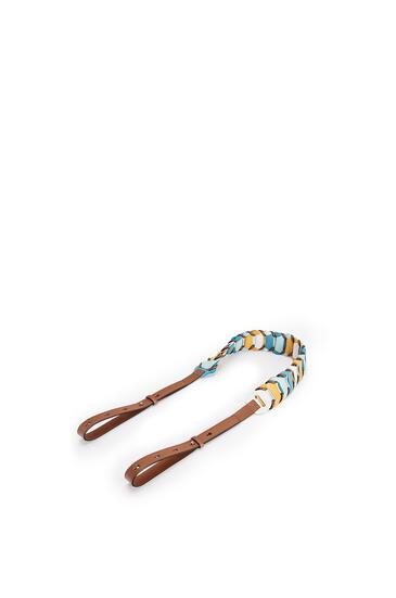 LOEWE Circles loop strap in classic calfskin Soft White/Dark Peacock Blue pdp_rd