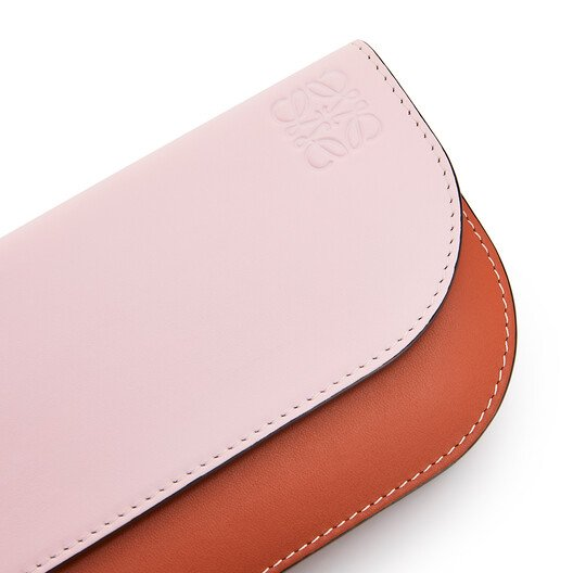 LOEWE Gate Continental Wallet Soft Pink/Coral front
