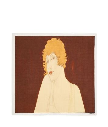 LOEWE 140X140 Scarf Portrait Beige front