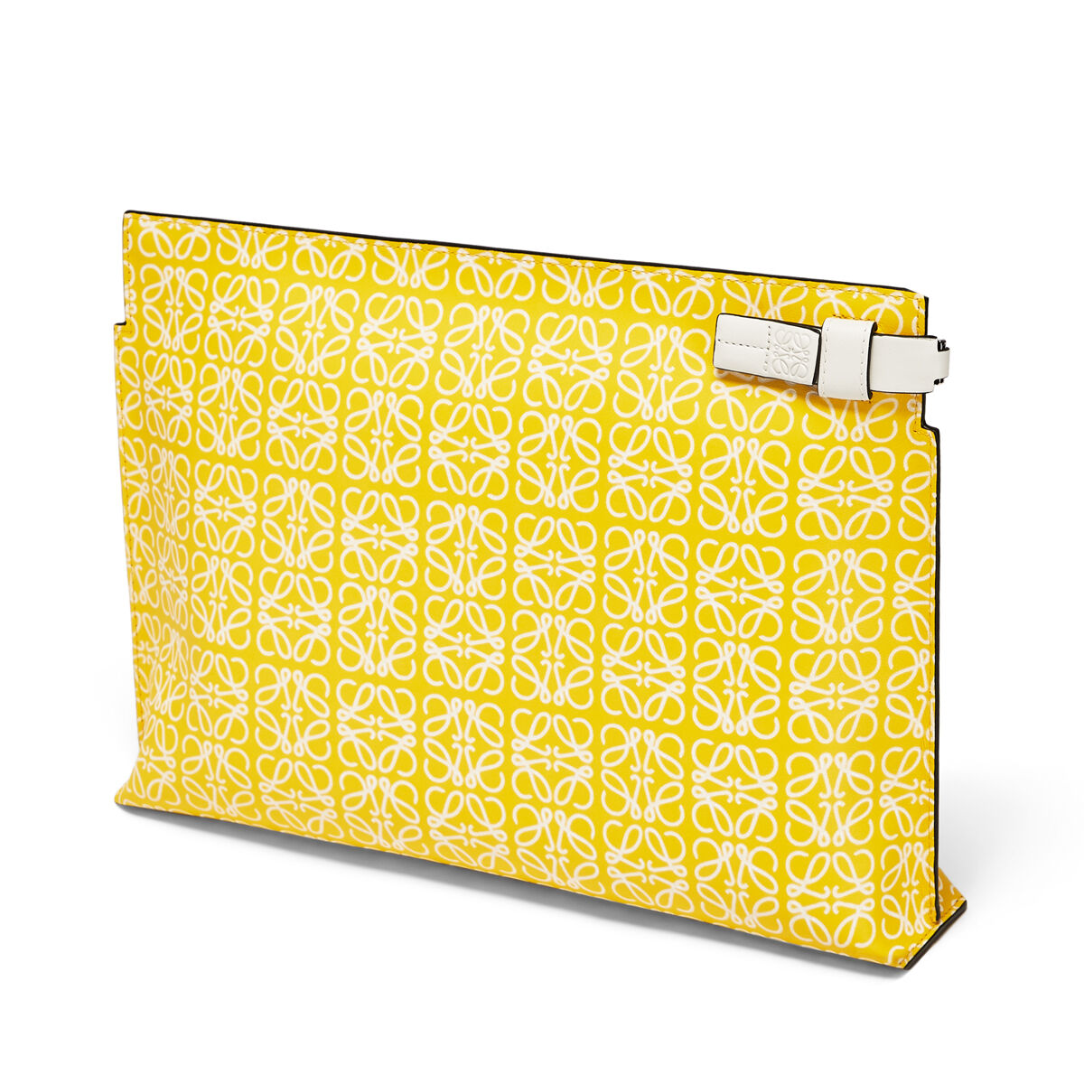 LOEWE T Pouch Repeat Yellow/White all