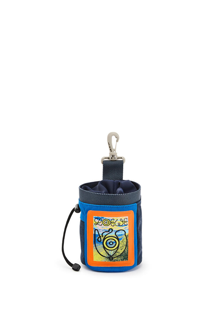 LOEWE Chalk Bag In Canvas Electric Blue/Navy Blue pdp_rd