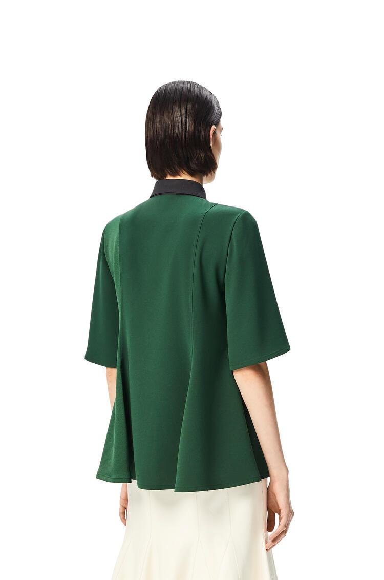 LOEWE Top con cuello de polo Verde Esmeralda pdp_rd