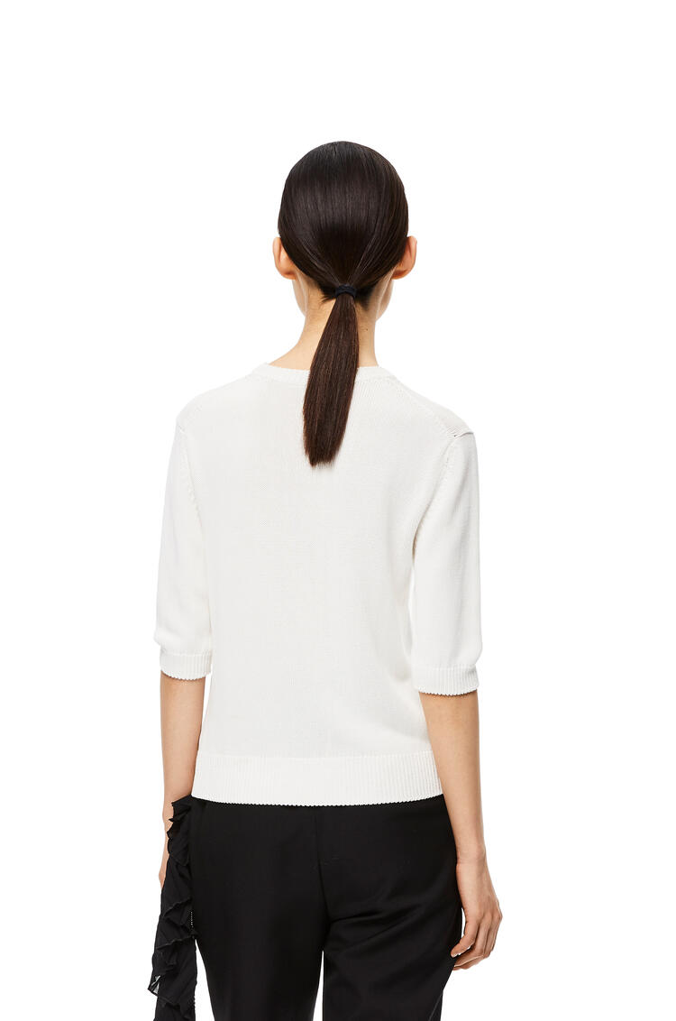 LOEWE Embroidered short sweater in cotton White pdp_rd