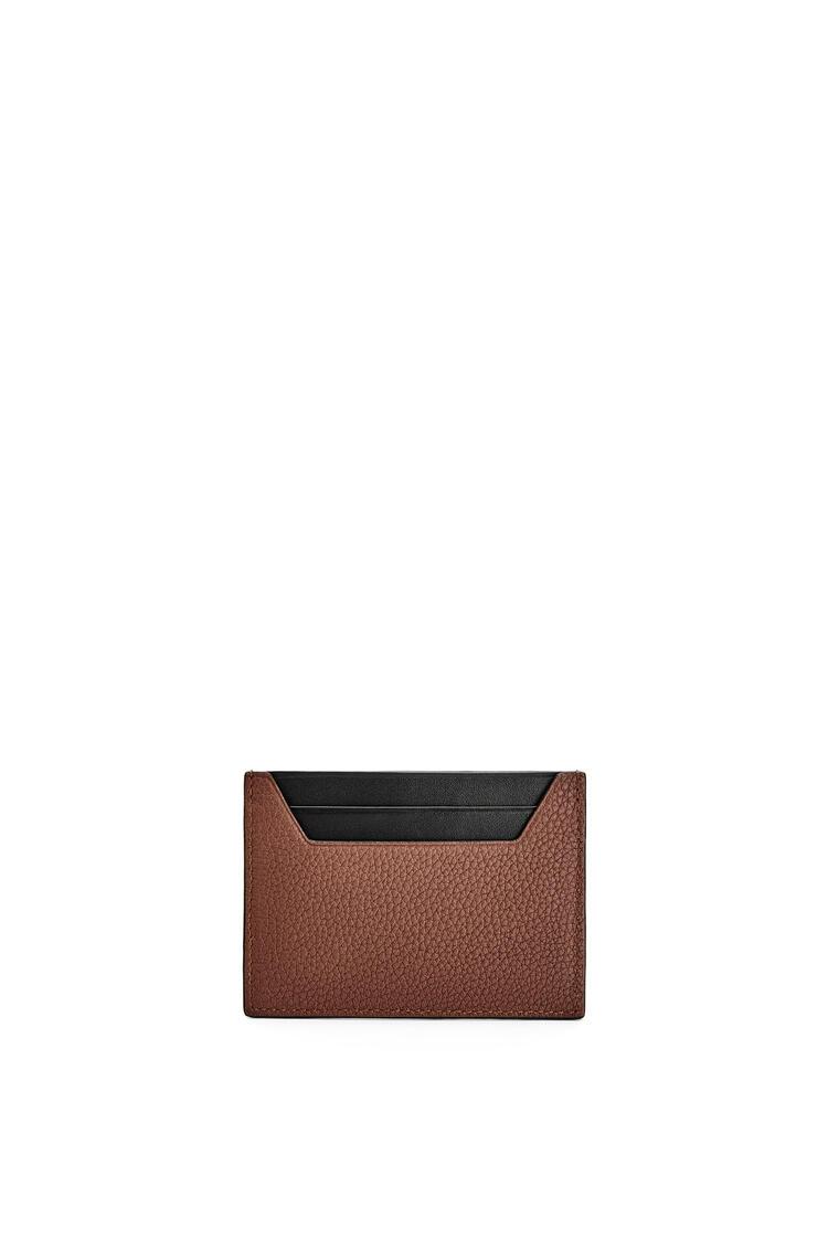 LOEWE Plain cardholder in grained calfskin Cognac pdp_rd