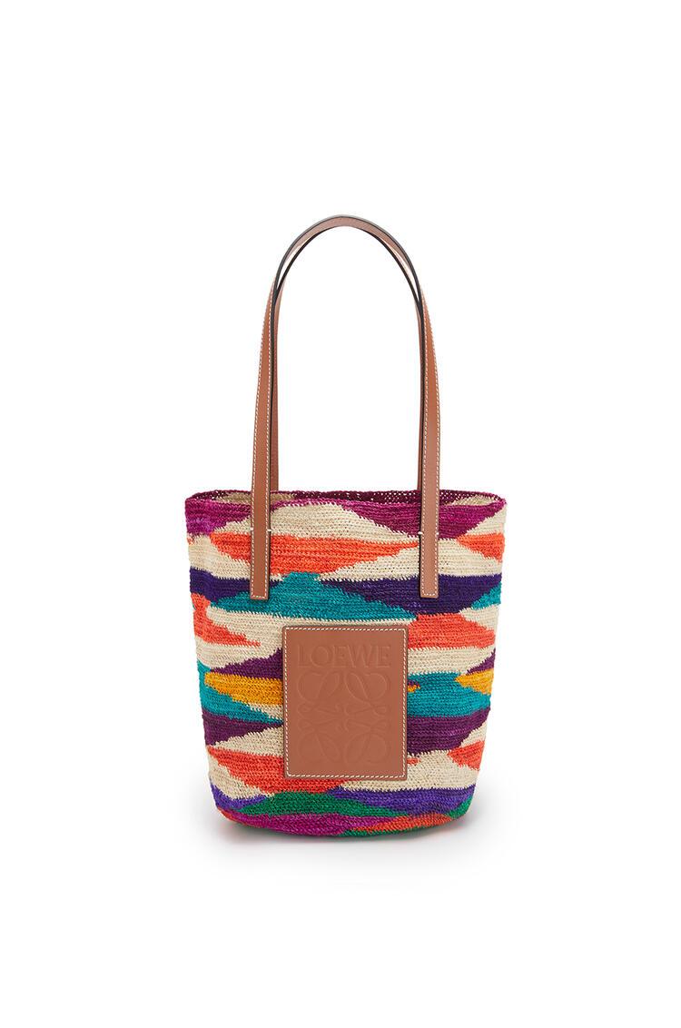 LOEWE シグラ バスケットバッグ (アガベ&カーフスキン ) Multicolor/Pecan pdp_rd