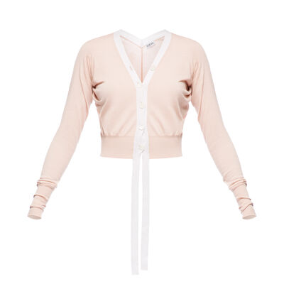 LOEWE Cropped Cardigan Rosa front