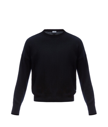 LOEWE Cropped Sweater Black front