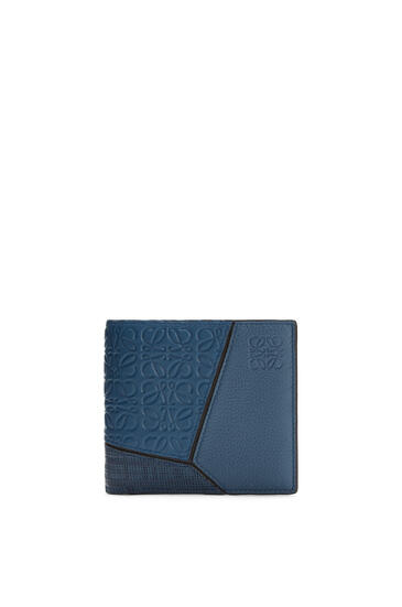 LOEWE Puzzle bifold coin wallet in calfskin Indigo pdp_rd