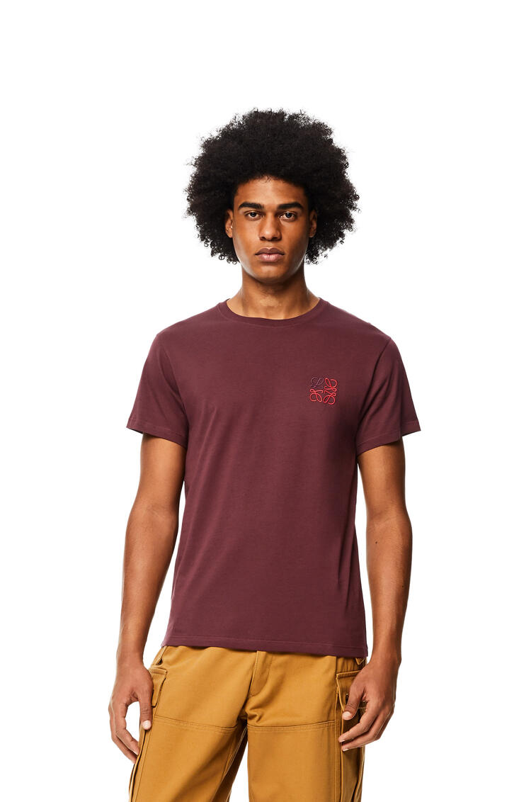 LOEWE Anagram T-shirt in cotton Burgundy pdp_rd