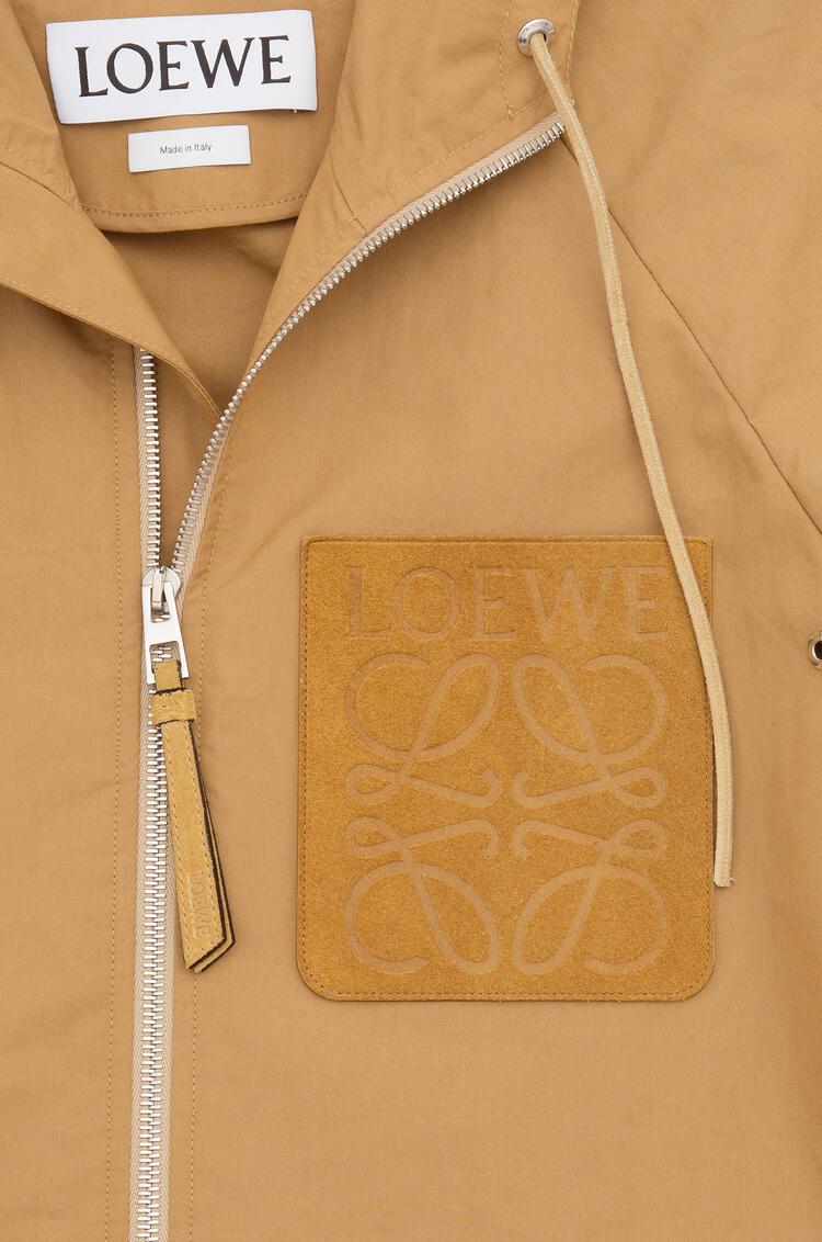 LOEWE Zip hood jacket in cotton Beige pdp_rd
