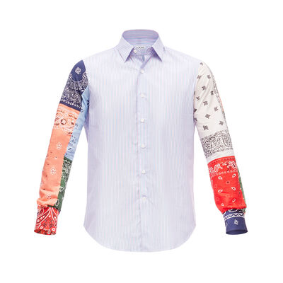 LOEWE Bandana Sleeve Stripe Shirt Multicolor front